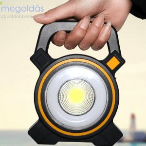Napelemes kemping lámpa, mini powerbank USB csatlakozóval