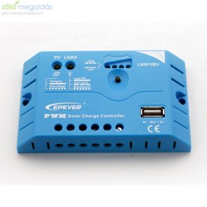 5A-es 12V PWM napelem töltésvezérlő USB kimenettel