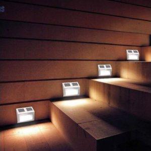 2db Falra szerelhető kültéri napelemes lámpa