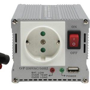 24 Voltos 300 Wattos módosított szinuszos inverter USB kimenettel