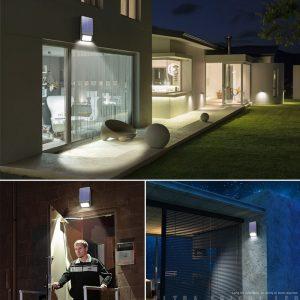 Napelemes, mozgásérzékelős bejárat vagy terasz megvilágító lámpa