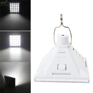 25 LED- es hordozható napelemes reflektor