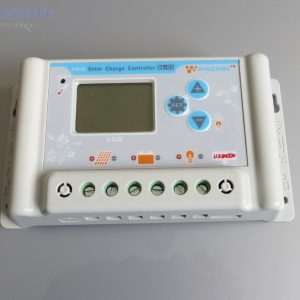 30A-es 60V Napelem töltésvezérlő USB kimenettel és LCD kijelzővel