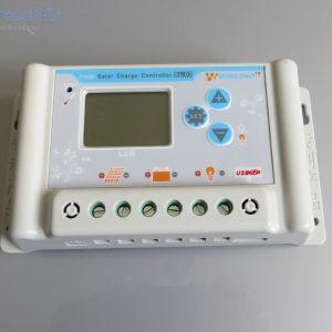 30A-es 24V Napelem töltésvezérlő USB kimenettel és LCD kijelzővel