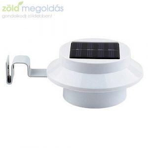 Ereszre/Csatornára fogatható napelemes 3 ledes kültéri lámpa