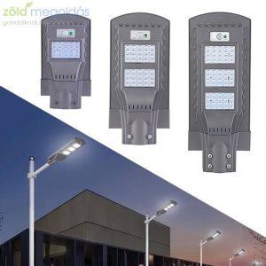 Nagy teljesítményű távirányítós, mozgásérzékelős, napelemes LED kültéri lámpa- 90W-180W-320W