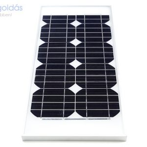 20W/12V monokristályos napelem panel