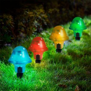Napelemes LED gombalámpa-6db