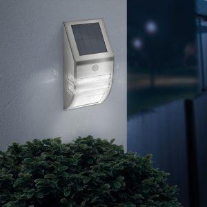 Mozgásérzékelős napelemes fali lámpa-hidegfehér